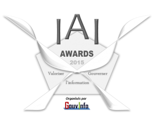Logo IAI Awards GouvInfo - 2015