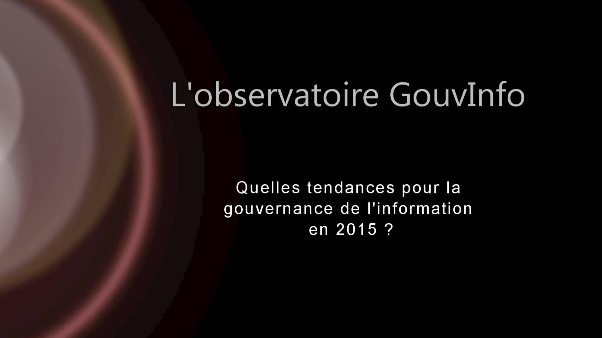 Tendances de la gouvernance de l'information